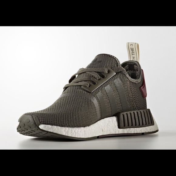 online store 9cb66 a1e7e Adidas NMD olive green and maroon